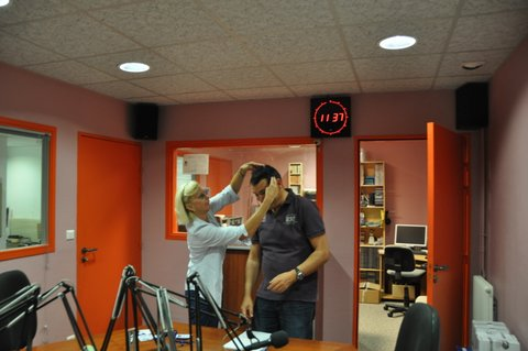 dans le studio de fréquence sillé/interview le 4.09.13