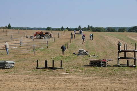 préparation du terrain le 28 Août 2013